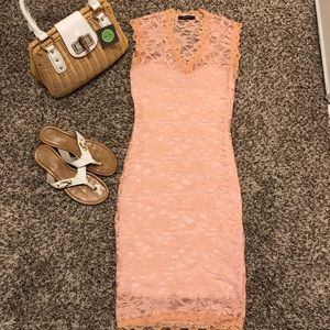 Beautiful light orange lacy dress